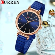 CURREN Top marka luksusowe niebieski kobiet kobiet zegarek wodoodporny zegar bransoletka moda proste panie zegarek ze stali nierdzewnej 9081 tanie tanio QUARTZ Klamra z haczykiem CN (pochodzenie) STOP 3Bar SPORT 12mm ROUND Odporna na wstrząsy Odporne na wodę Hardlex Woman Wris Watch 9081