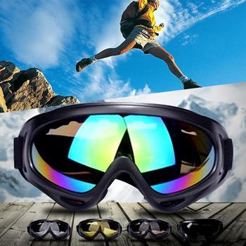 Gogle silnikowe okulary okulary rowerowe MX terenowe kaski Ski Sport Gafas Anti-fog wiatroszczelne okulary ochronne Motocross tanie i dobre opinie Jeden rozmiar Unisex Jasne MULTI Anti-UV400 Breathable Windproof Anti-scratched Windproof Dustproof Waterproof Motorcycle Goggles Model