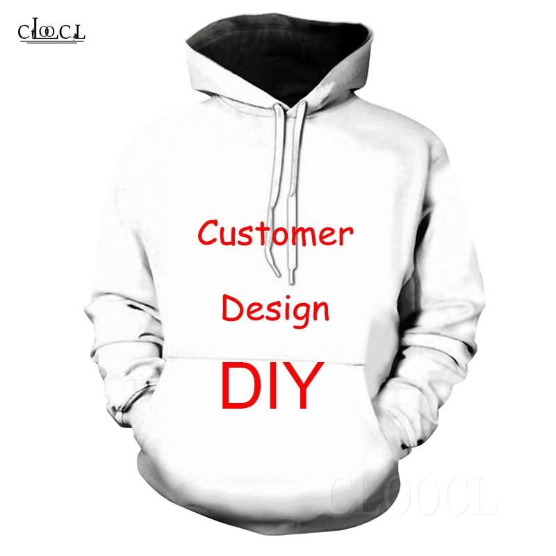 Hot DIY Personalized Customer Design 3D Hoodies Custom Photo Men Women Hoodie Harajuku Sweatshirts Long Sleeve Basic Hoody Tops