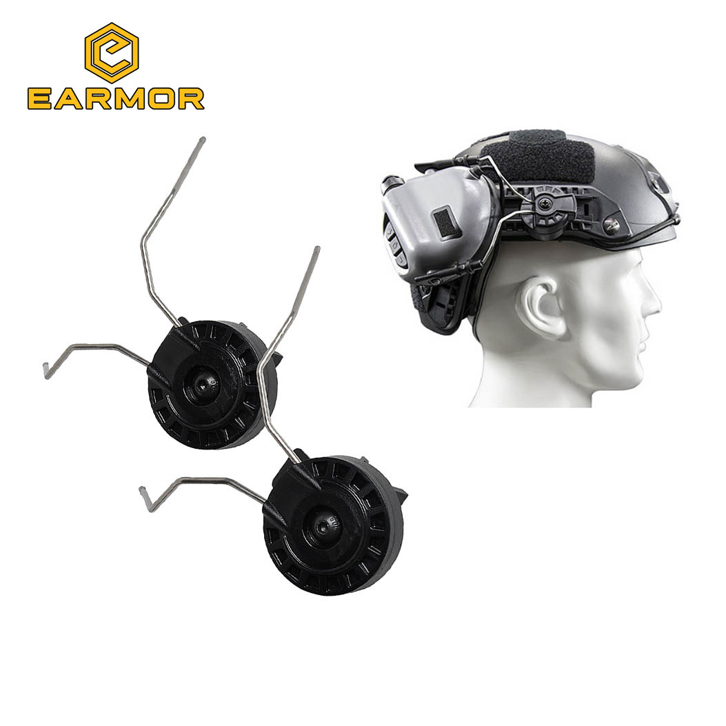 Helmets Rail Adapter Set For Sordin Headsets Airsoft Rails Connector Kit