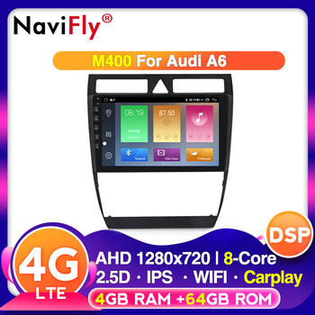 Android 10.0 1280*720P Car Radio Multimedia Video Player Navigation GPS for Audi A6 S6 RS6 1997-2004 IPS 2.5D screen No DVD image