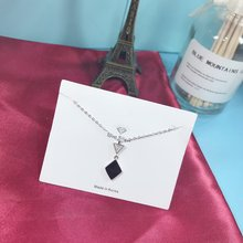 Exquisite Real 925 Sterling Silver Pendant Necklaces Not Easy Fade Lasting Shine Chain Delicate Black Ceramics Mystery Pendant exquisite real 925 sterling silver charming pendant necklaces lasting shine chain delicate cube zirconia good looking wheel hub