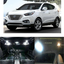 Led interior lights For Hyundai Tucson Fuel Cell 2016  13pc Led Lights For Cars lighting kit automotive bulbs Canbus цена