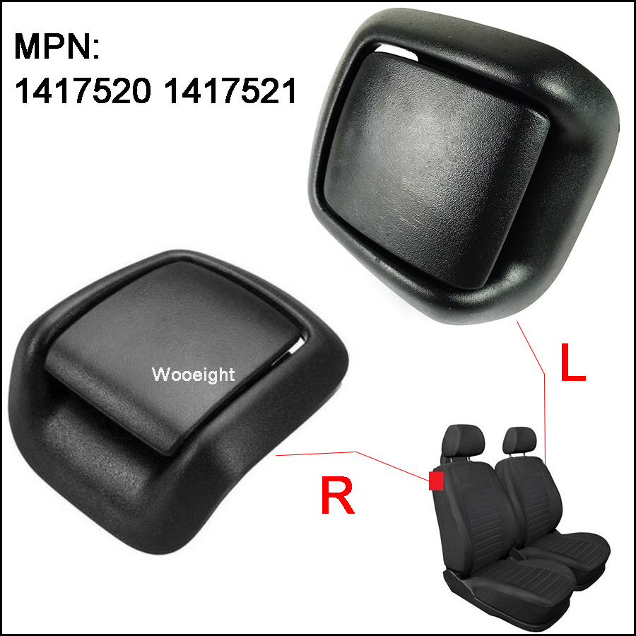 Wooeight 2Pcs Car Front Right Left Side Seat Tilt Handle 1417520 141752 Fit for Ford Fiesta MK6 VI 3 Door 2002-2006 2007 2008 image