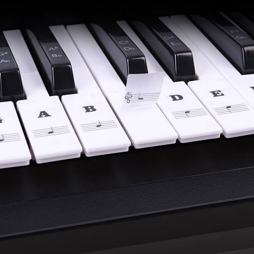 Piano Sticker Music Note Keyboard Sticker Decals For 49/54/61/88 Keys Piano Keyboard Instruments 24.5x14.3cm