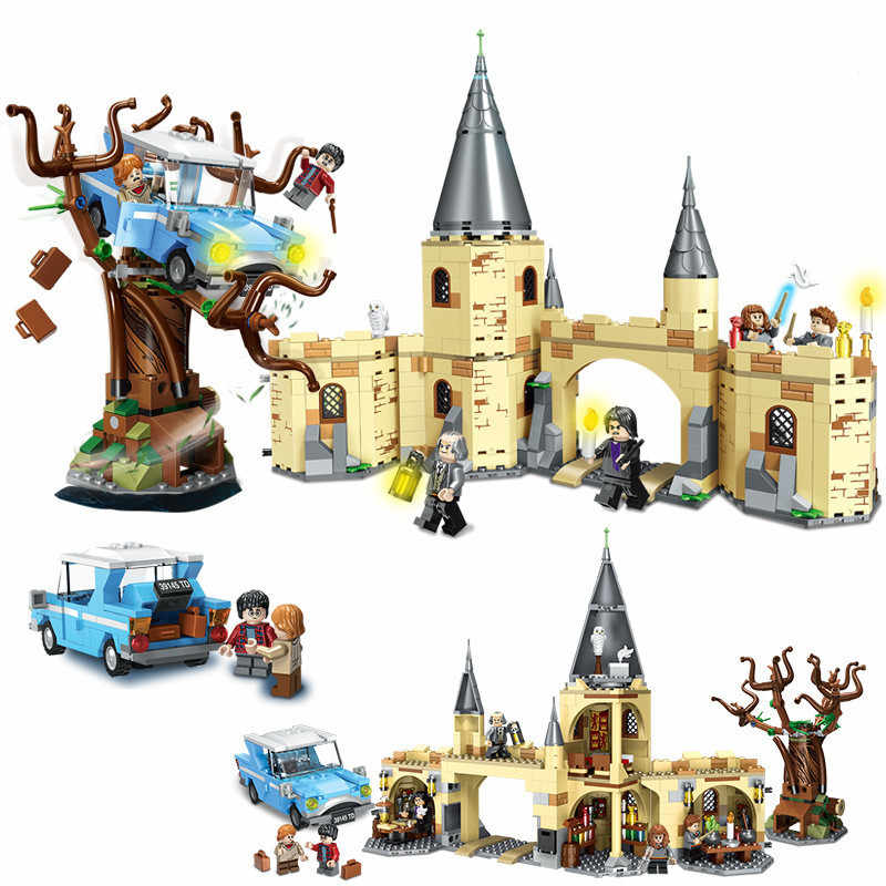 789pcs Harri Scuola di Magia Castello Cancello Figures Building Blocks Giocattoli Compatibile Con Il 75953 del Commercio All'ingrosso Dropshipping