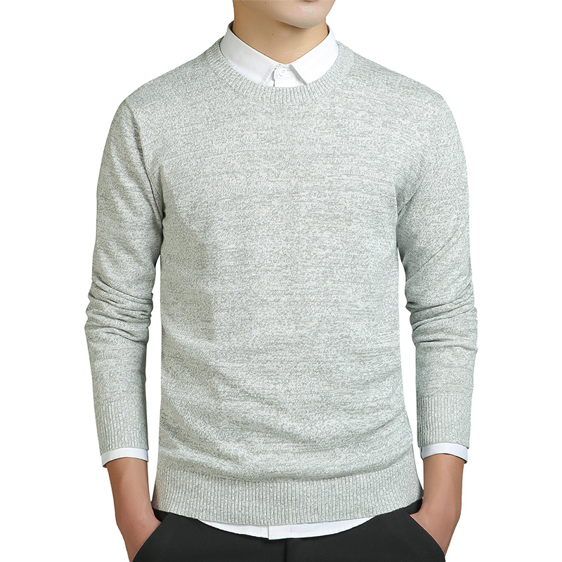 Grey Mens Sweater Casual Solid O-Neck Pullover Sweater Men Clothes 2020 Autumn New Pull Homme OverSize Thin Sweater Knitted Coat