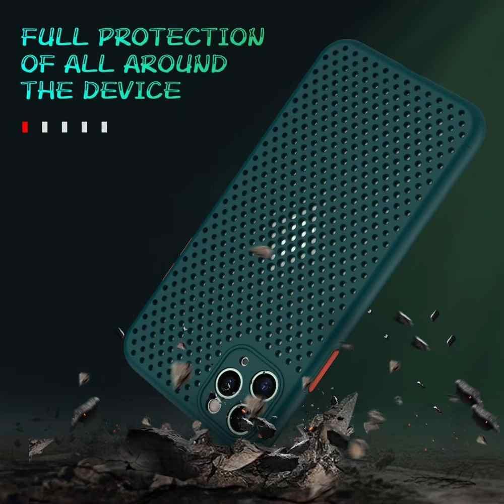 방열 실리콘 전화 케이스 Apple iPhone 11 Pro Max XS X XR 8 Plus 7 6 6S SE 2020 SE2 커버 럭셔리 브랜드 액세서리