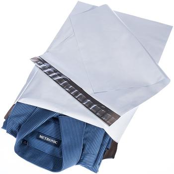 50pcs Poly Mailer koperty torby przewozowe torby kurierskie z samoprzylepnym wodoodporny i odporny na rozdarcia pocztowych torby tanie i dobre opinie Cozelopack 7sizes self-seal plastic Prezent koperty White grey