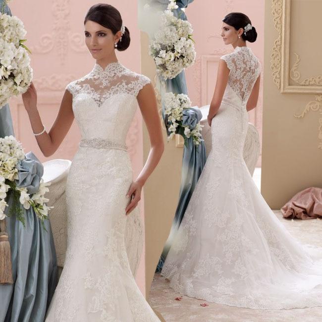 Vestidos De Noiva Sereia 2016 Sexy Mermaid Wedding Dress Lace See Through Wedding Dress Vestido De Casamento Robe De Mariage
