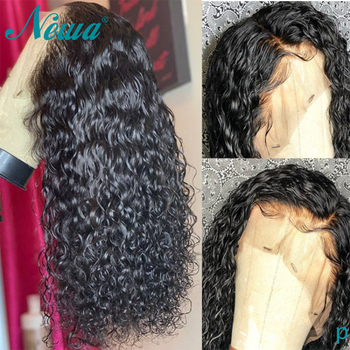 Newa Hair Pre Plucked 360 Lace Frontal Wigs With baby Hair Glueless Lace Frontal Human Hair Wigs 180% Remy Hair Water Wave Wigs