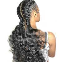 250 dichte Pre Gezupft Volle Spitze Menschliches Haar Perücken Mit Baby Haar Transparent Spitze Perücken Brasilianische Lose Welle Perücke Immer schönheit Remy