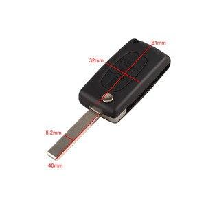 Image 1 - 3 botones Auto Flip plegable mando a distancia de entrada llavero cubierta hoja en blanco para Citroen C4 Picasso C5 C6 reemplazo de la carcasa de la llave del coche