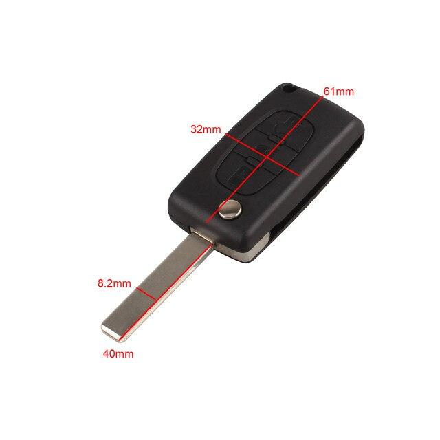 3 botones Auto Flip plegable mando a distancia de entrada llavero cubierta hoja en blanco para Citroen C4 Picasso C5 C6 reemplazo de la carcasa de la llave del coche