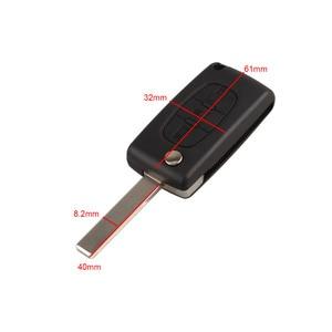 Image 1 - 3 tasten Auto Flip Folding Remote Eintrag Key Fob Fall Abdeckung Blank Klinge Für Citroen C4 Picasso C5 C6 Ersatz auto Schlüssel Shell