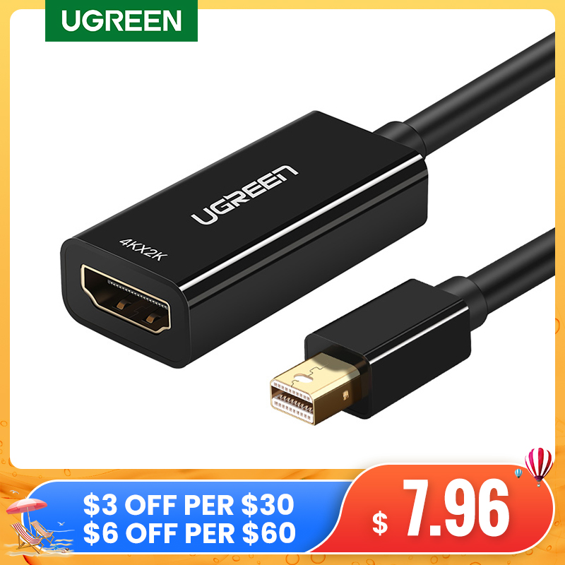 Ugreen Mini DisplayPort to HDMI Adapter Mini DP Cable Thunderbolt 2 HDMI Converter for MacBook Air 13 Surface Pro 4 Thunderbolt