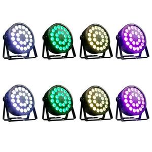 Image 1 - 8 조각/24x12w RGBW 4 in 1 Led 파 조명 풀 컬러 Led 플랫 파 빛 DMX512 Dj 워시 램프
