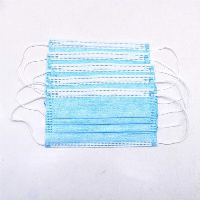 CE Certification 3-Layer Non-woven Disposable mask Disposable Fast Delivery Soft Breathable Flu Hygiene Face Mouth Mask IN STOCK