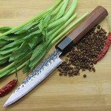 Novo estilo 4 Polegada cozinha fruta três-camada 8cr17mov lâmina de núcleo de aço chef profissional cozinhar ferramenta edc faca