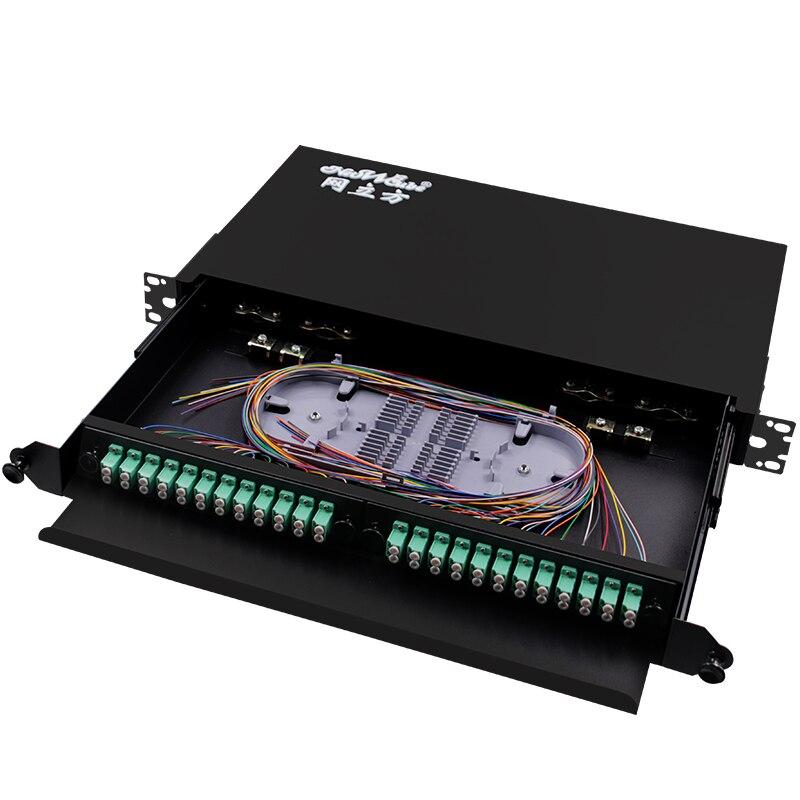 Boîtier de terminaison de fibre de montage en Rack pour 48 cœurs UPC APC LC