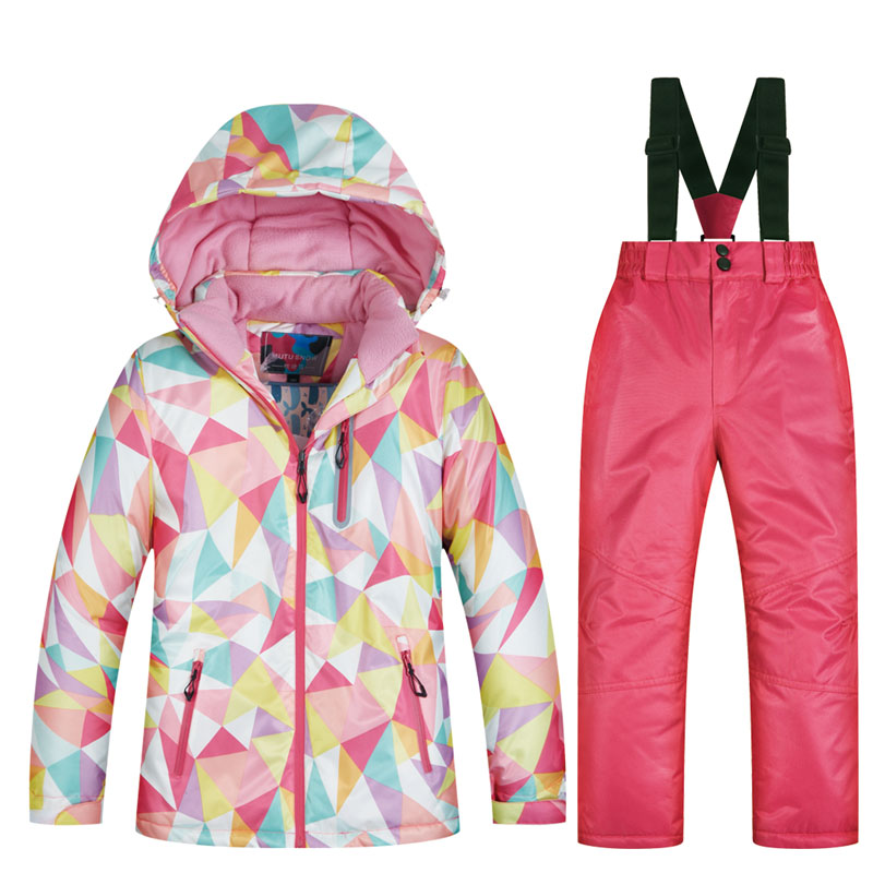 High Quality Kids Ski Suit Children Windproof Waterproof Colorful Girls For Boy Snowboard Snow Jackets And Pants Winter Dress