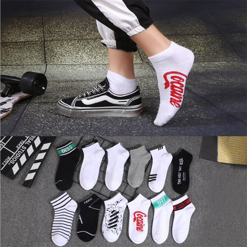 1 Pair Tidal Socks Men And Women Trend Socks Spring And Summer Cotton Short Tube Low Tide Boat Socks Street Hip Hop Sports Socks