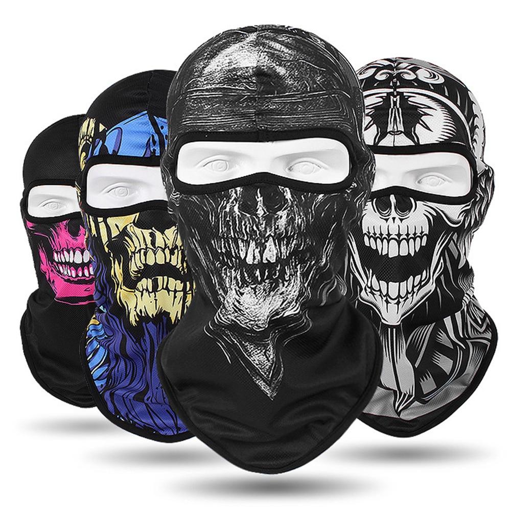 2019 New Winter Balaclava Motorcycle Face Mask Lycra Moto Biker Wind Cap Ski Mask Stopper Windproof Motorcycle Mask