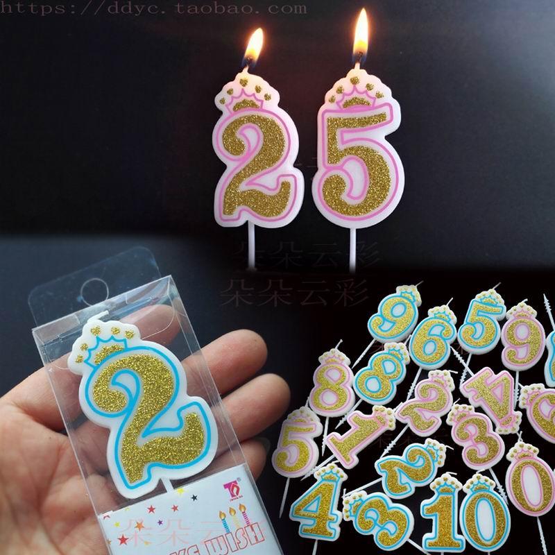 N/úmero 3 del brillo cumplea/ños Vela y decoraci/ón de la torta del feliz cumplea/ños