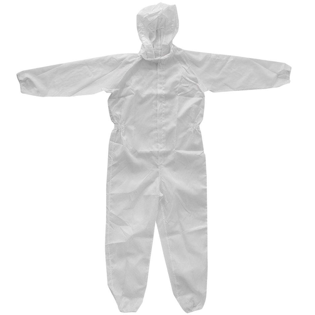 Protective Coveralls Dust Spray Suit Antistatic Overall Clothing With Hood Small Size