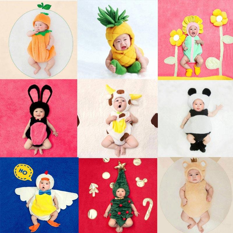 Noworodka fotografia rekwizyty motyw kreskówki odzież Baby boy dziewczyna zdjęcie ubrania dla dzieci studio akcesoria kostium dla niemowląt strój