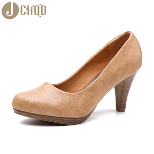 Image 3 - JCHQD 2020 جديد إمرأة ميد الكعوب أحذية فائقة الجودة الكلاسيكية مضخات أحذية لمكتب السيدات الأحذية الأوروبية size36 41 النساء الأحذية