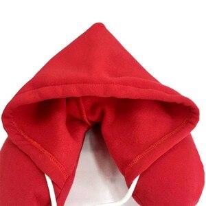 Corpo del Collo Cuscino Pisolino Cuscino di Particelle di Cotone Morbido Con Cappuccio In Cotone U-Cuscino Aereo Cuscino Tessili Per La Casa Cuscino Da Viaggio Accessori Auto(China)