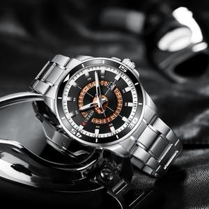 Image 5 - CURREN New ビジネスデザインウォッチメンズラグジュアリーブランドクォーツ腕時計ステンレススチール時計ファッション紳士腕時計 Relojes