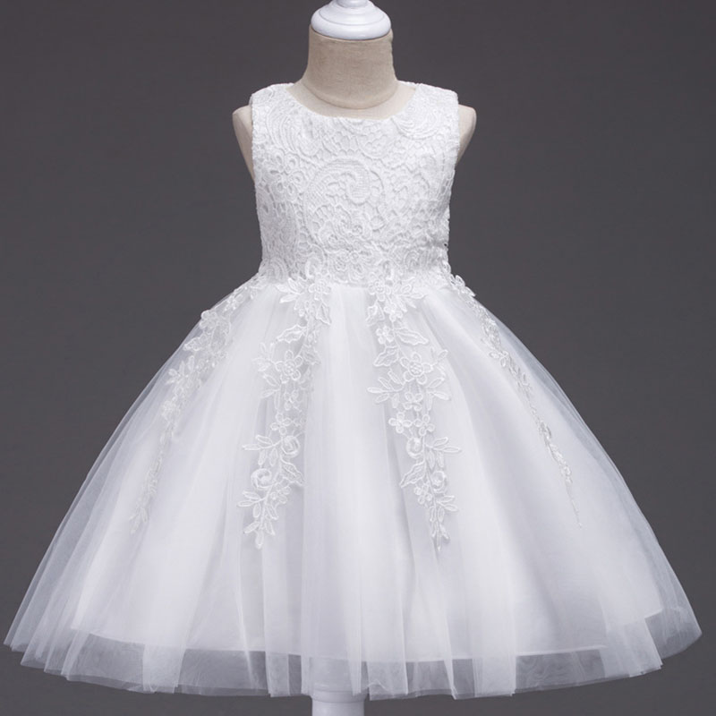 2019 Ladies Dress Flower Girl Dresses For Wedding Clothing  First Communion Princess Party Baby Costume Vestido Comunion