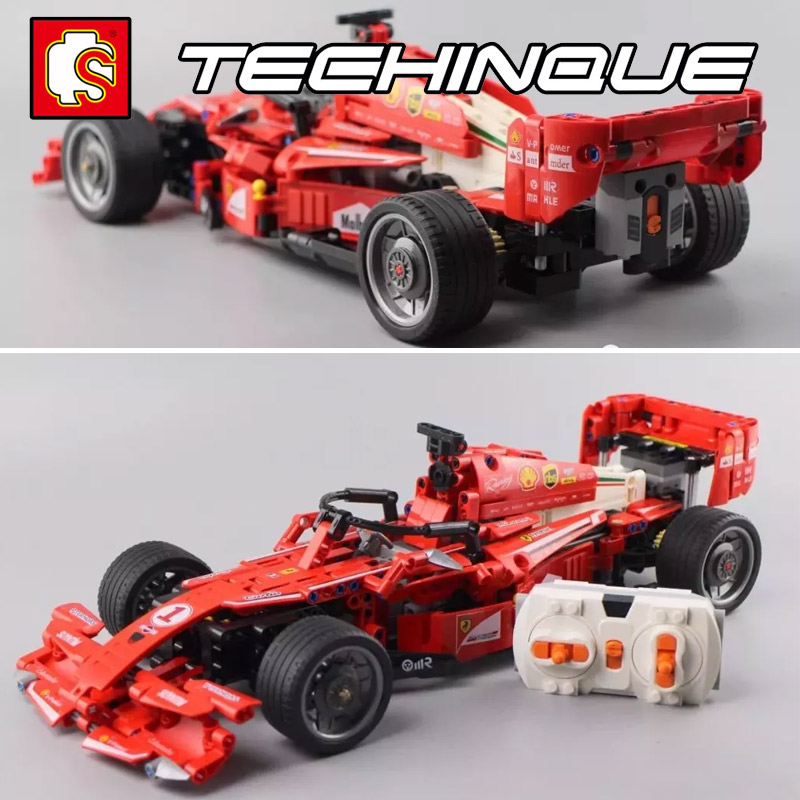 <font><b>701000</b></font> MOC Technic Series RC Car Super Racing Car F1 Remote control Model Building Block Brick Toys Gift For Children image