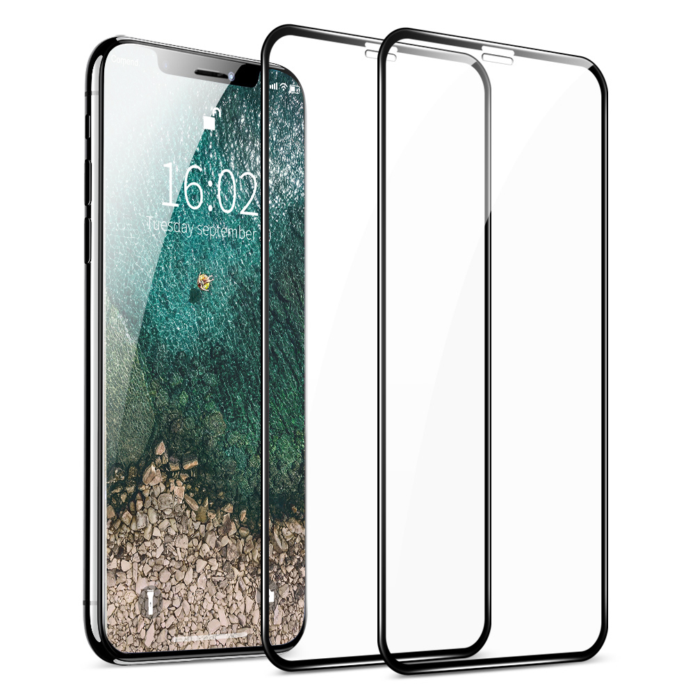 AFY 2pcs/lot Tempered Glass for iPhone 11 Pro Glass Film for iPhone 11 Pro MAX XR 9D Full Cover for iPhone XS MAX Glass for XR-in Phone Screen Protectors from Cellphones & Telecommunications