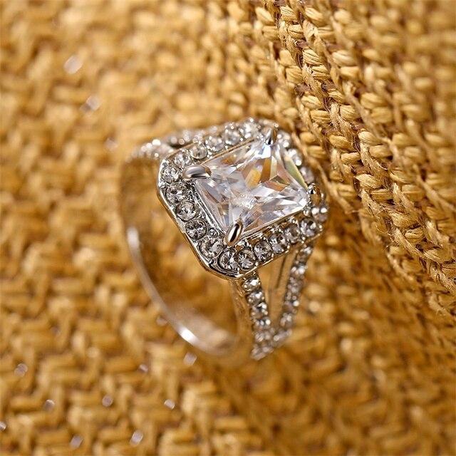 Square AAA Australian Crystal Rings 5