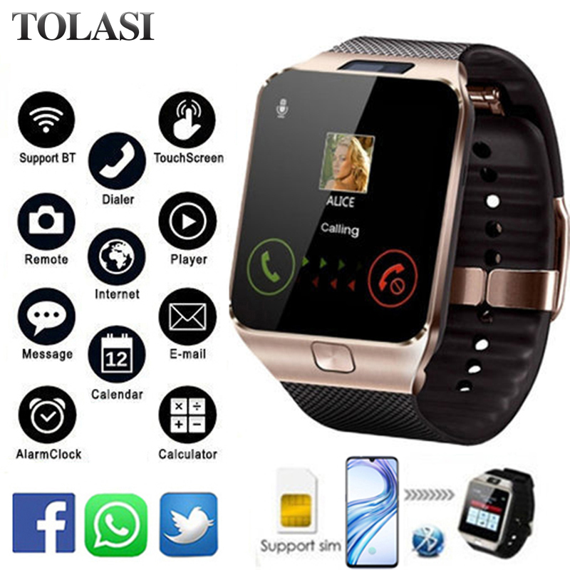 Bluetooth Smart Watch DZ09 Smartwatch Android Phone Call Connect Watch Men 2G GSM SIM TF Card Camera For iPhone Samsung HUAWEI image