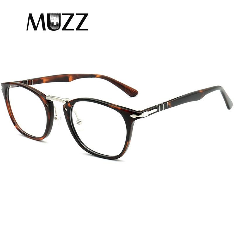 Acetate Glasses Men Eyeglasses Optical Glasses Frame Vintage Style Transparent Lens Brand Design Computer Goggles Male Eyewear