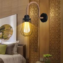Lámpara colgante de pared de hierro de cuello de cisne de estilo Retro Vintage E27 de 85-265V AC para restaurante