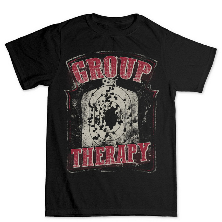 Group Therapy Guns Shooting Target <font><b>AR</b></font> 15 AK47 Rifle T <font><b>Shirt</b></font> Cool Casual Pride Street T-<font><b>shirt</b></font> Men Unisex New Fashion image