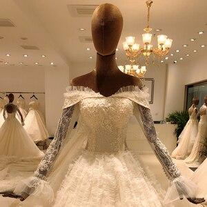 Image 3 - 2020 elegant lace long sleeve ball gown wedding dress bride casamento robe longue vestido de noiva princesa vestido SL 8031