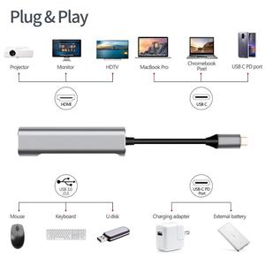 Image 2 - USB نوع C محور محطة لرسو السفن لسامسونج Dex محطة كابل مع HDMI USB 3.0 محول الطاقة لماك بوك برو هواوي P30 P20 برو