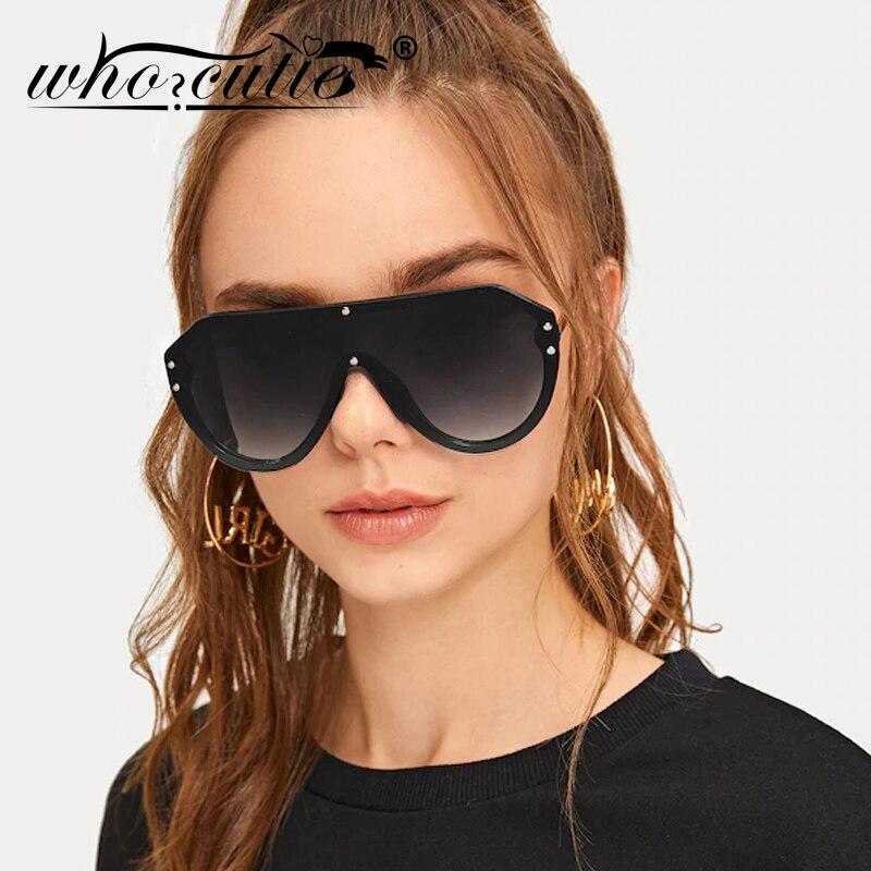 FLOWER DESIGN Oversized Shield Round Women/'s Fashion Sunglasses SILVER BLACK