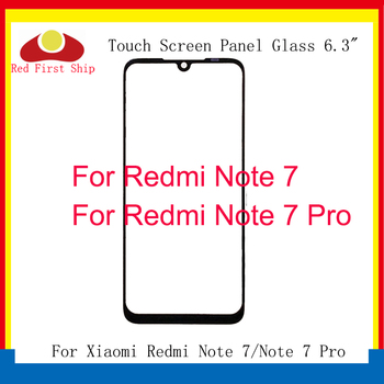 цена на 10Pcs/lot Touch Screen For Xiaomi Redmi Note 7/Note 7 Pro Touch Panel Front Outer LCD Glass Lens Note 7 Touchscreen Replacement