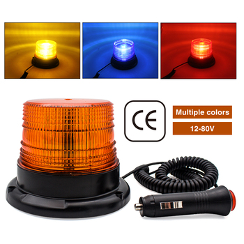 12-80V LED car truck strobe warning light engineering vehicle flashing emergency light school bus beacon light magnetic