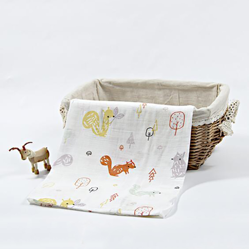 Купить с кэшбэком Baby Blanket Cotton Muslin wrap Towels blanket Gauze Bedding  Bath Towel NewbornStroller Quilt Swaddle 120*120cm