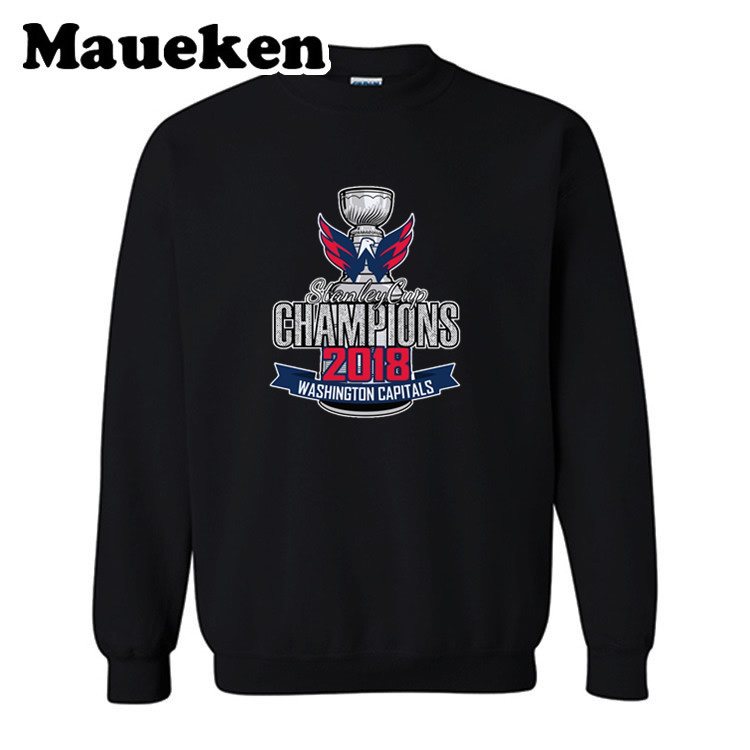 Men Hoodies 2018 Champions Washington Sweatshirts Hooded Thick Round Collar For Capitals Fans Autumn Winter W19101501