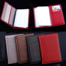Credit Card Holder Russian Auto Driver License Bag PU Leather Wallet Case Solid Color On Cover For Car Driving Documents Card