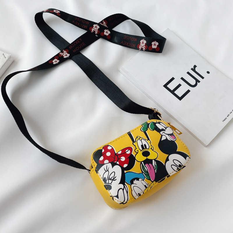 Disney dziecięca torba mickey mouse dziewczyna torba na ramię Crossbody kreskówka myszka miki torba z nadrukiem śliczne mini torebka na monety prezent urodzinowy